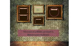 Mécènes et artistes pendant la Renaissance Italienne