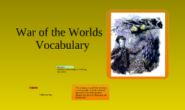 War of the Worlds - Vocabulary