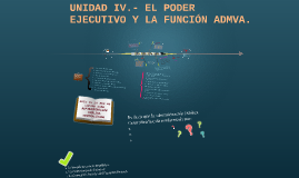 UNIDAD IV.- EL PODER EJECUTIVO Y LA FUNCIÓN ADMVA.