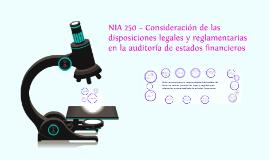Copy of NIA 250 – Consideración de las disposiciones legales y regla