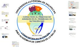 CURSO PARA EL PROCESO DE ADMISIÓN EN EL PROGRAMA DE NUTRICIÓ