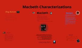 Macbeth Characterizations