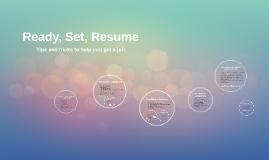 Ready, Set, Resume