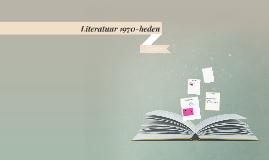 Literatuur 1970-heden