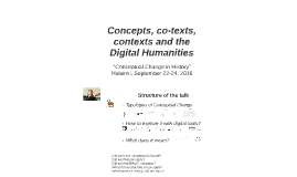 """Conceptual Change in History"" Helsinki, September 22-24, 20"