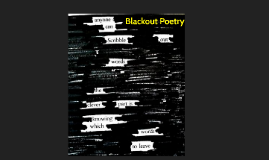 Blackout Poetry Lesson - Revised