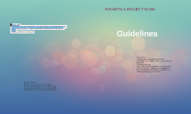 Project work: guidelines, IV