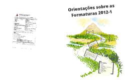 ORIENTAÇÕES DE FORMATURA