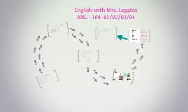 English with Mrs. Legatos