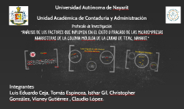 Copy of Análisis de los factores que influyen en el éxito o fracaso de las microempresas abarroteras de la colonia mololoa de la ciudad de Tepic, Nayarit.