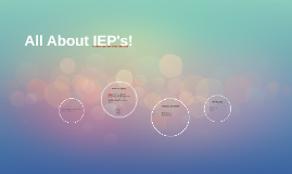 All About IEP's!