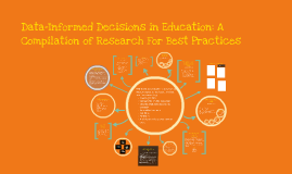 Data-Informed Decisions in Education: A Compilation of Research for Best Practices