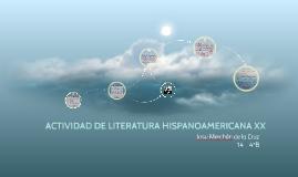 ACTIVIDAD DE LITERATURA HISPANOAMERICANA