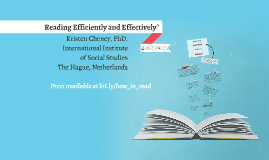 Reading Effectively & Efficiently
