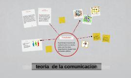 Copy of teoria  de la comunicacion