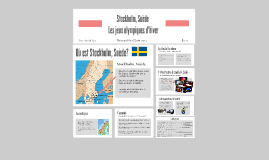 Stockholm, Suède: Les jeux olympiques d'hiver