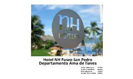 NH Hotels- Paseo San Pedro