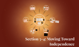 Section 5-4: Moving Toward Independence