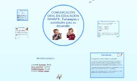 Copy of COMUNICACIÓN ORAL EN EDCUACIÓN INFANTIL. Estrategias y activ