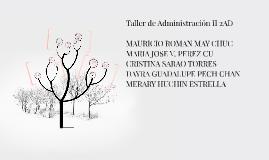 Copy of Taller de Administración II 2AD