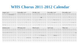 2011-2012 WHS Chorus Calendar