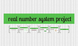 real number system project