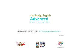 ADVANCED (CAE) 1.2 Language Acquisition
