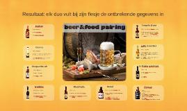 Beer & food pairing | samenwerkopdracht | resultaat