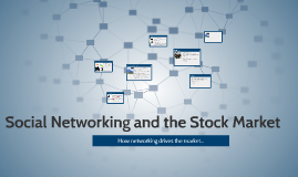 Social Networking and the Stock Market