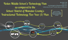 Nolan Middle School Technology Plan