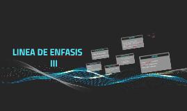 LINEA DE ENFASIS