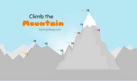 Copia de Climb the Mountain - Prezi Template