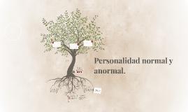 Personalidad normal y anormal.