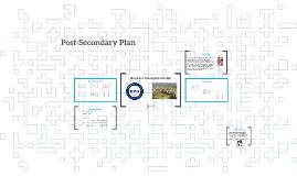 Post-Secondary Plan