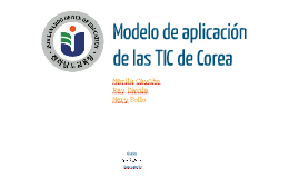 Modelo de aplicación de las TIC de Corea