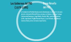 Los Gobiernos del PRD (1978-1986)