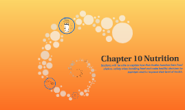 Chapter 10 Nutrition