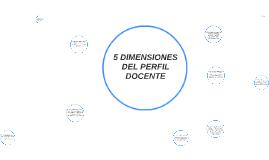5 DIMENSIONES DEL DOCENTE