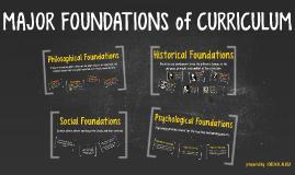 foundation of curriculum development