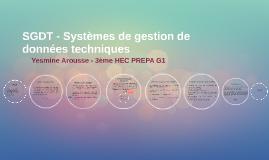 SGDT - Système de gestion de données techniques