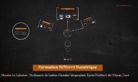Formation Référents Numériques