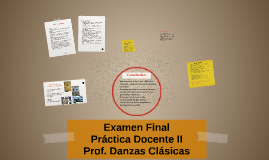 Examen Final Práctica Docente II