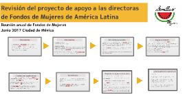 Revisión del proyecto de apoyo a las directoras de Fondos de