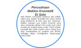 Perusahaan Maklon Kosmetik  Di Solo