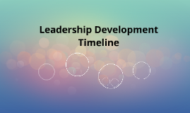 Leadership Development Timeline
