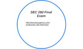 SEC 280 Final Exam