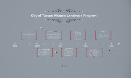 City of Tucson Historic Landmark Program