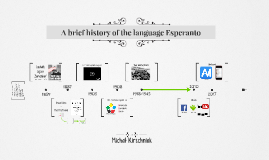 A brief history of the language Esperanto