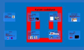 Karate szabályok