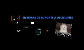 Sistemas de Soporte de Decisiones (Decision Support System -DSS-).